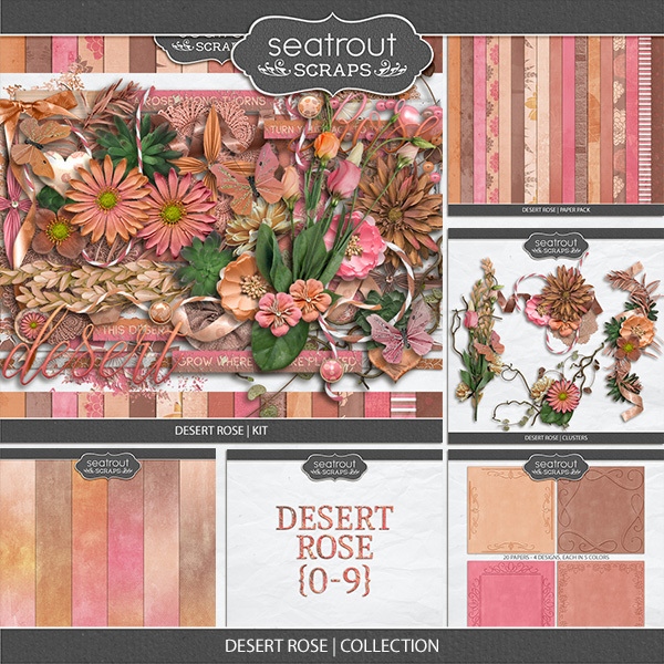 Desert Rose Discounted Bundle Digital Art - Digital Scrapbooking Kits