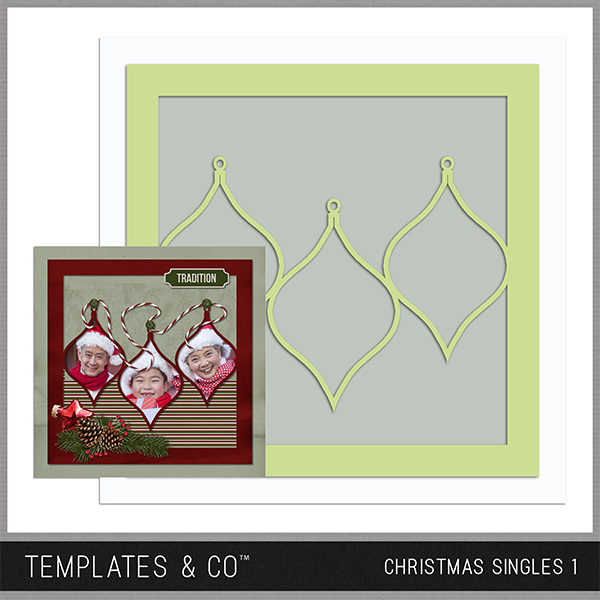 Christmas Singles 1 Digital Art - Digital Scrapbooking Kits