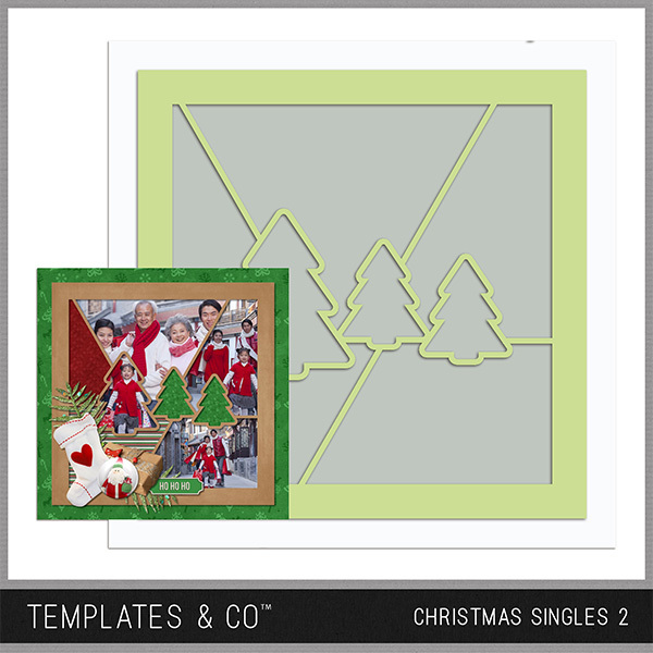 Christmas Singles 2 Digital Art - Digital Scrapbooking Kits