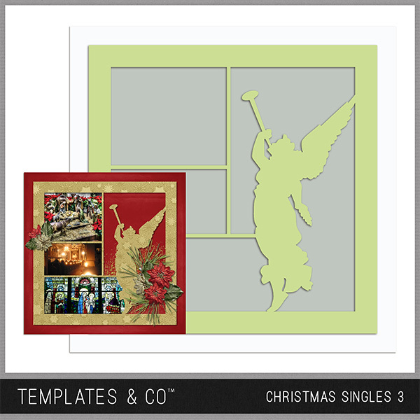 Christmas Singles 3 Digital Art - Digital Scrapbooking Kits