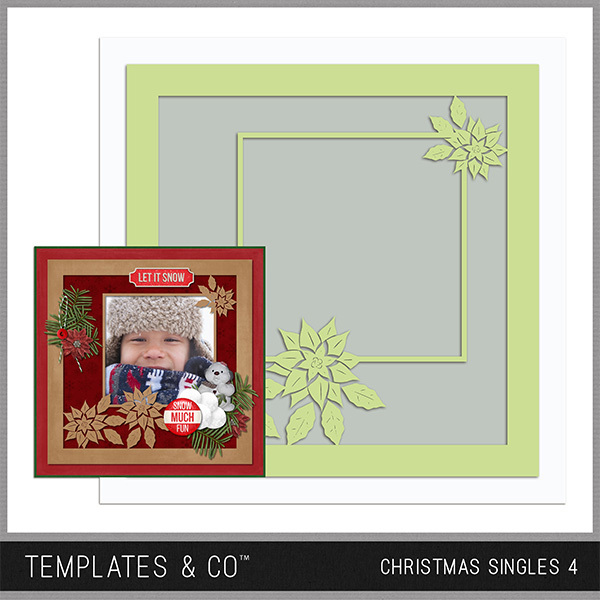 Christmas Singles 4 Digital Art - Digital Scrapbooking Kits
