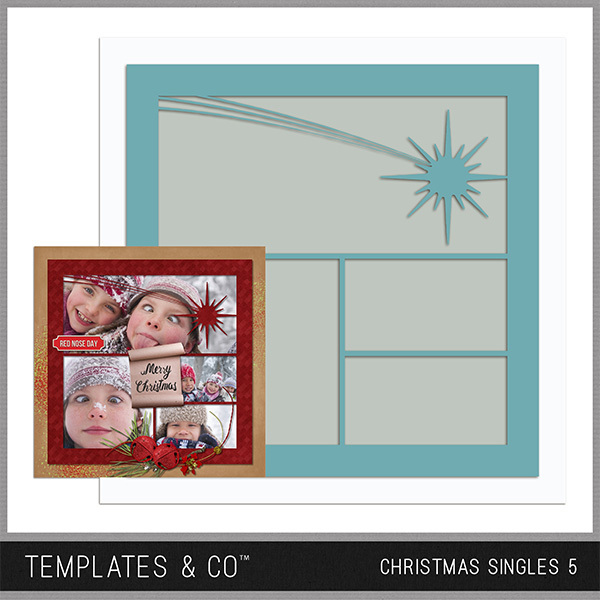Christmas Singles 5 Digital Art - Digital Scrapbooking Kits