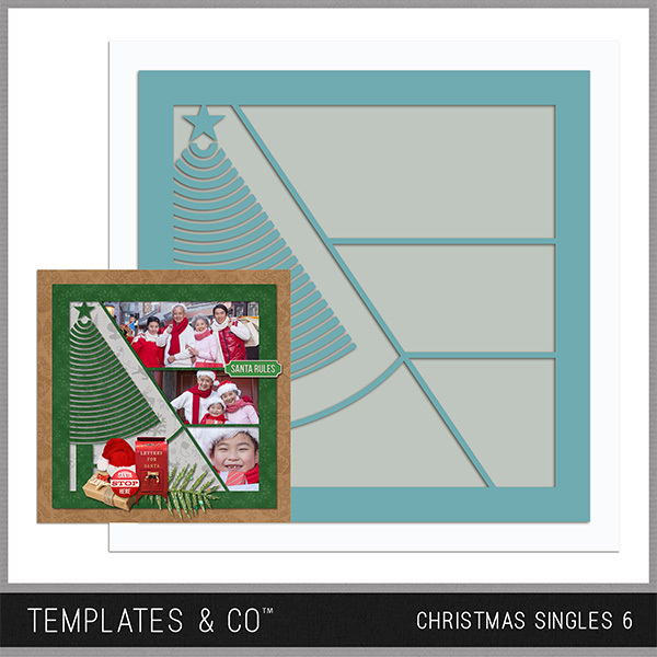 Christmas Singles 6 Digital Art - Digital Scrapbooking Kits
