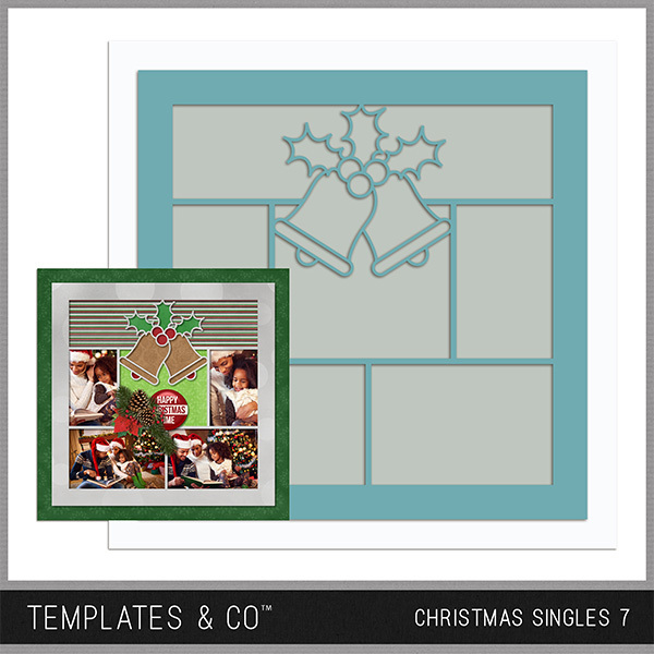 Christmas Singles 7 Digital Art - Digital Scrapbooking Kits