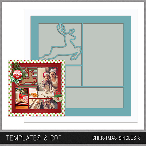 Christmas Singles 8 Digital Art - Digital Scrapbooking Kits