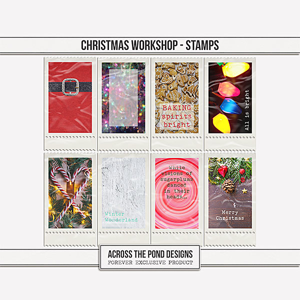 Christmas Workshop - Stamps Digital Art - Digital Scrapbooking Kits