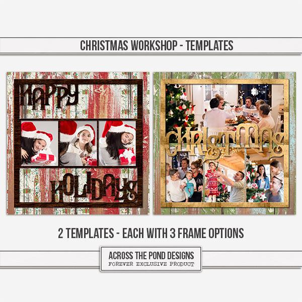 Christmas Workshop - Templates Digital Art - Digital Scrapbooking Kits