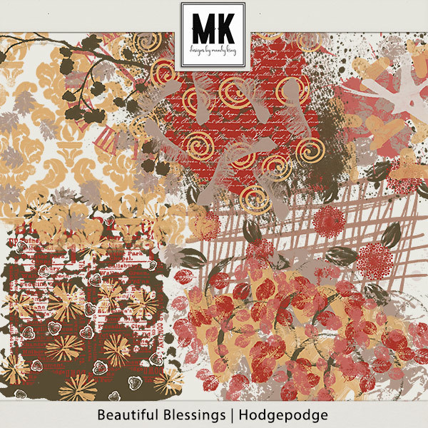 Beautiful Blessings - Hodgepodge Digital Art - Digital Scrapbooking Kits