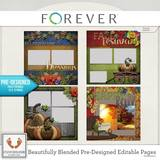 Beautifully Blended Pre-designed Editable Pages Thanksgiving 2
