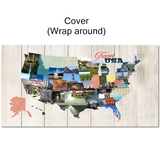 USA Map Blueprints, Shapes And Titles (12x12)