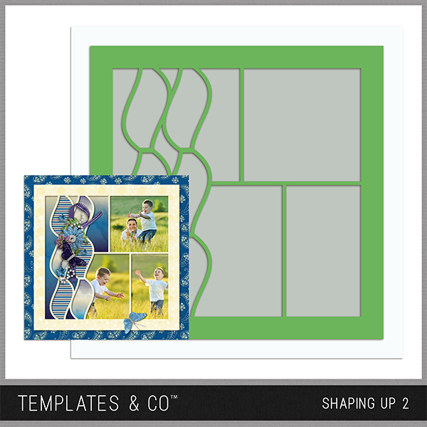 Shaping Up 2 Digital Art - Digital Scrapbooking Kits