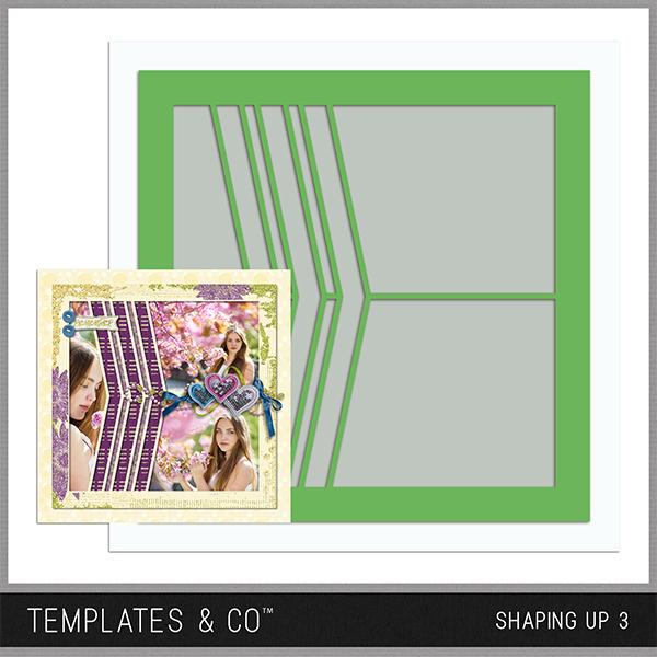 Shaping Up 3 Digital Art - Digital Scrapbooking Kits