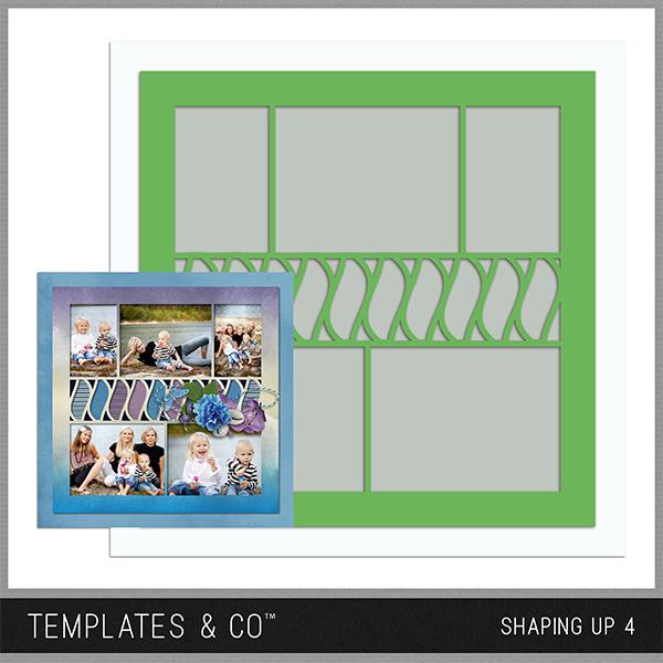 Shaping Up 4 Digital Art - Digital Scrapbooking Kits