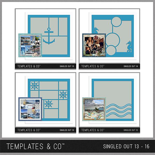 Singled Out 13 - 16 Bundle Digital Art - Digital Scrapbooking Kits
