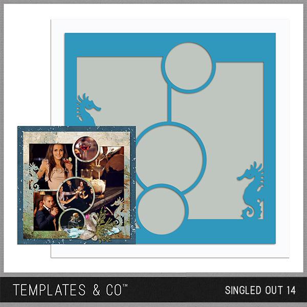 Singled Out 14 Digital Art - Digital Scrapbooking Kits