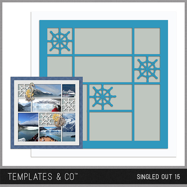 Singled Out 15 Digital Art - Digital Scrapbooking Kits