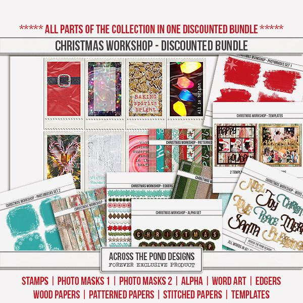 Christmas Workshop - Discounted Bundle Digital Art - Digital Scrapbooking Kits