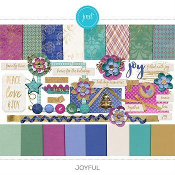 Joyful Kit Digital Art - Digital Scrapbooking Kits