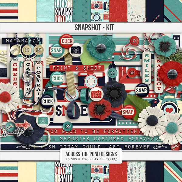 Snapshot - Page Kit Digital Art - Digital Scrapbooking Kits