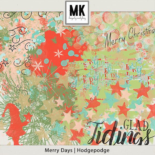 Merry Days - Hodgepodge Digital Art - Digital Scrapbooking Kits