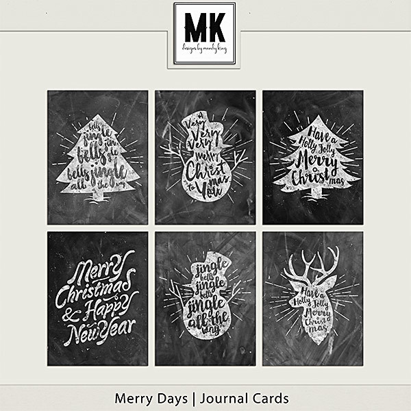 Merry Days - Journal Cards