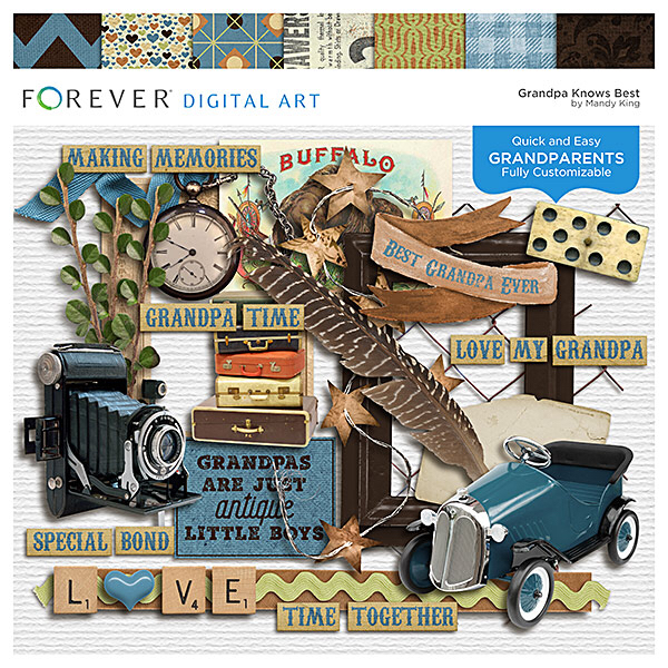 Grandpa Knows Best Digital Art - Digital Scrapbooking Kits