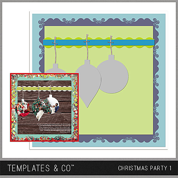 Christmas Party 1 Digital Art - Digital Scrapbooking Kits