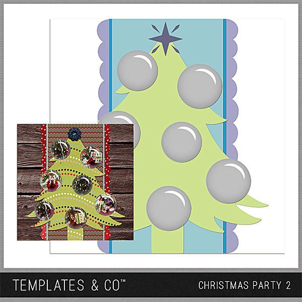 Christmas Party 2 Digital Art - Digital Scrapbooking Kits