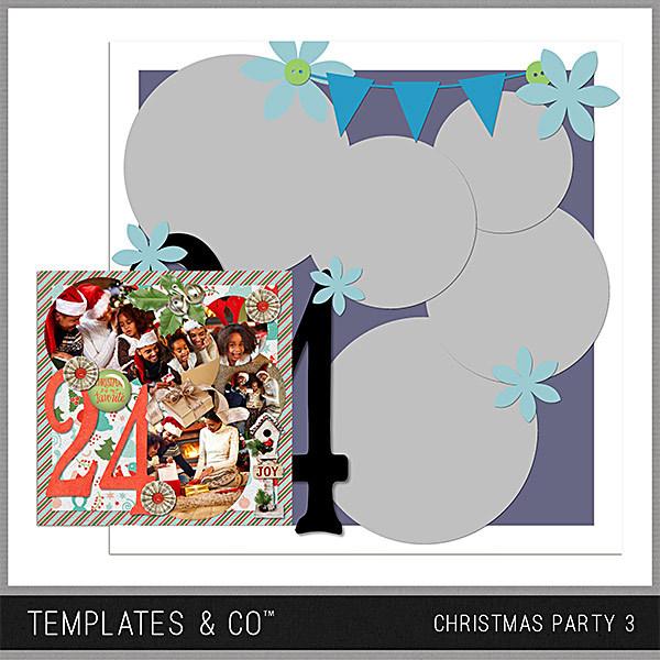 Christmas Party 3 Digital Art - Digital Scrapbooking Kits