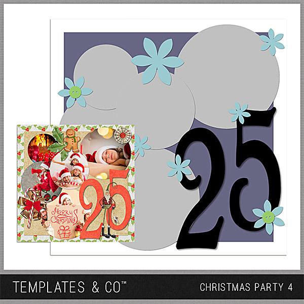 Christmas Party 4 Digital Art - Digital Scrapbooking Kits