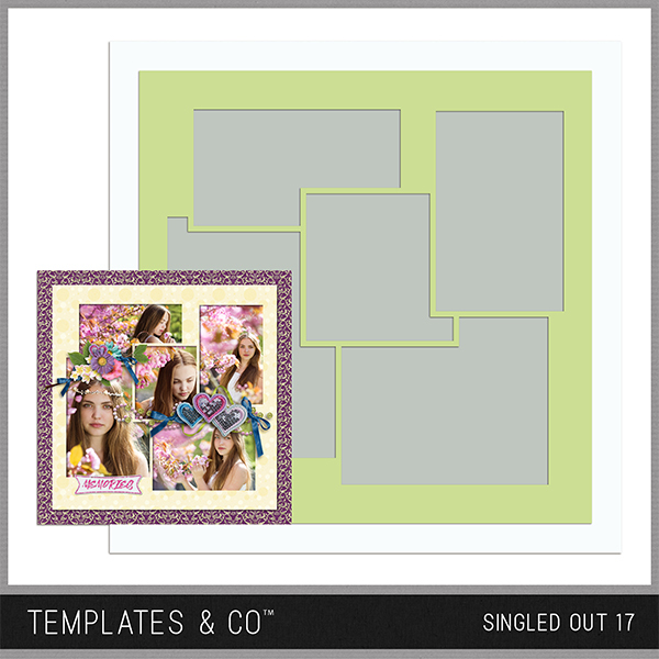 Singled Out 17 Digital Art - Digital Scrapbooking Kits