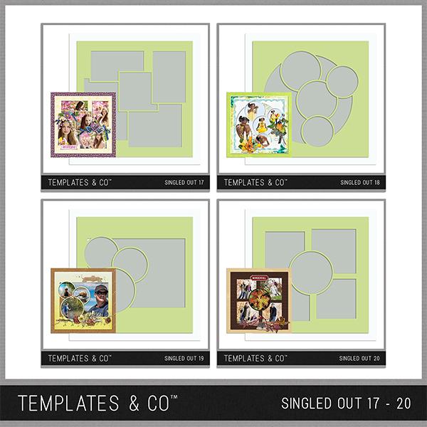 Singled Out 17 - 20 Bundle Digital Art - Digital Scrapbooking Kits