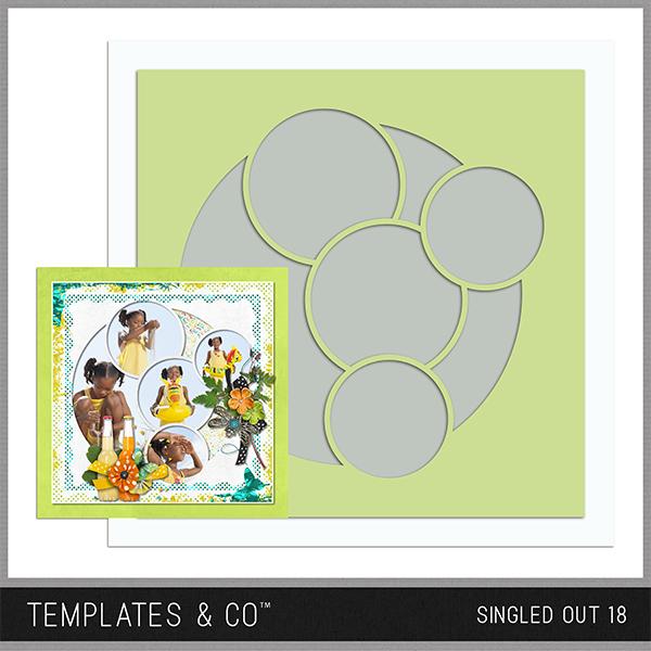Singled Out 18 Digital Art - Digital Scrapbooking Kits