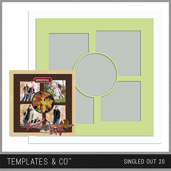 Singled Out 20 Digital Art - Digital Scrapbooking Kits