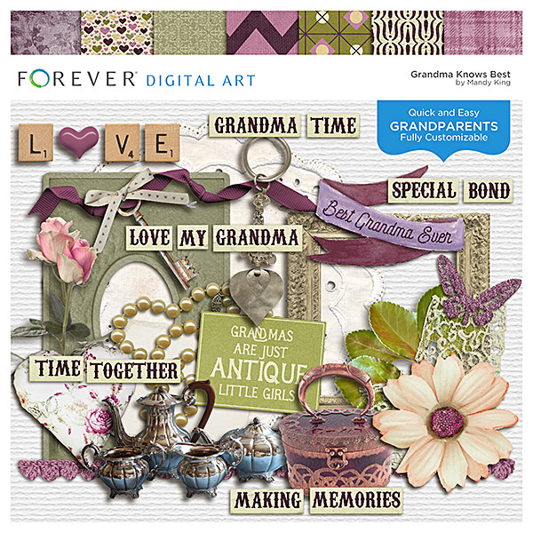 Grandma Knows Best Digital Art - Digital Scrapbooking Kits