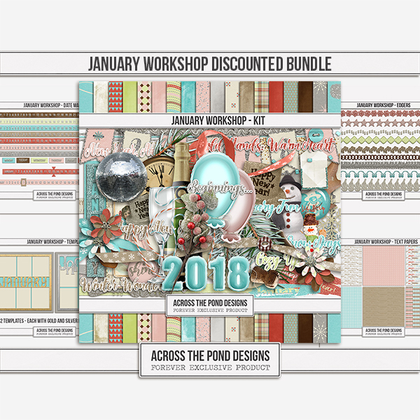 January Workshop - Discounted Bundle Digital Art - Digital Scrapbooking Kits