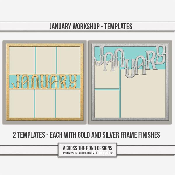 January Workshop - Templates Digital Art - Digital Scrapbooking Kits
