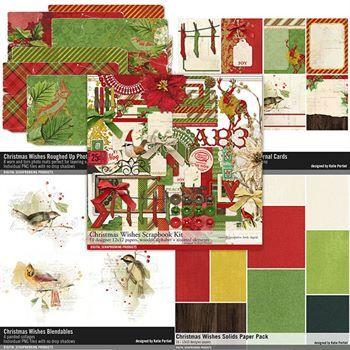 Christmas Wishes Scrapbooking Collection Digital Art - Digital Scrapbooking Kits