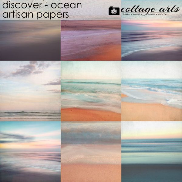 Discover - Ocean Artisan Papers Digital Art - Digital Scrapbooking Kits