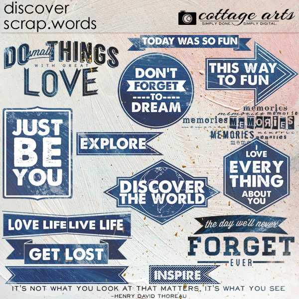 Discover Scrap.words Digital Art - Digital Scrapbooking Kits