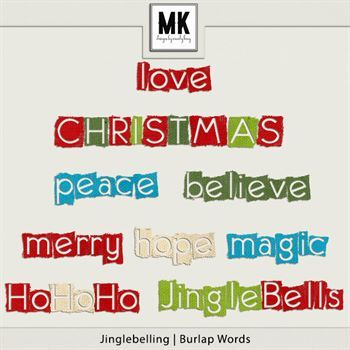 Jinglebelling - Word Art Digital Art - Digital Scrapbooking Kits