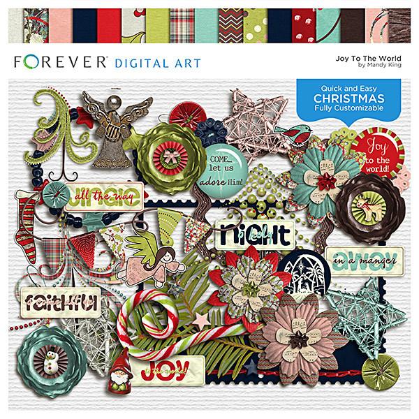 Joy To The World Digital Art - Digital Scrapbooking Kits