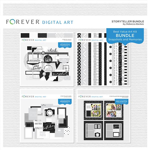 Storyteller Bundle Digital Art - Digital Scrapbooking Kits