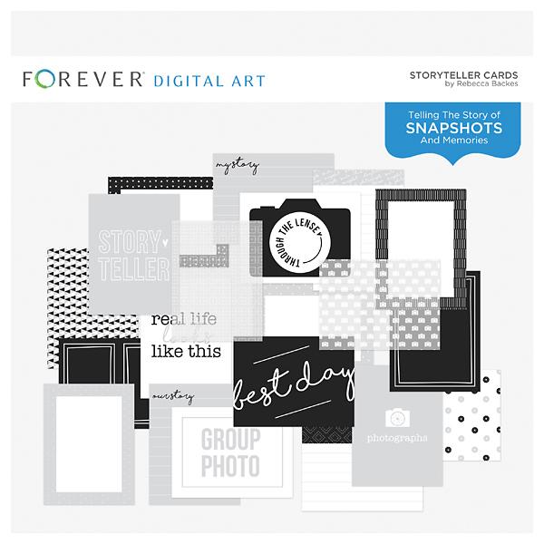 Storyteller Cards Digital Art - Digital Scrapbooking Kits