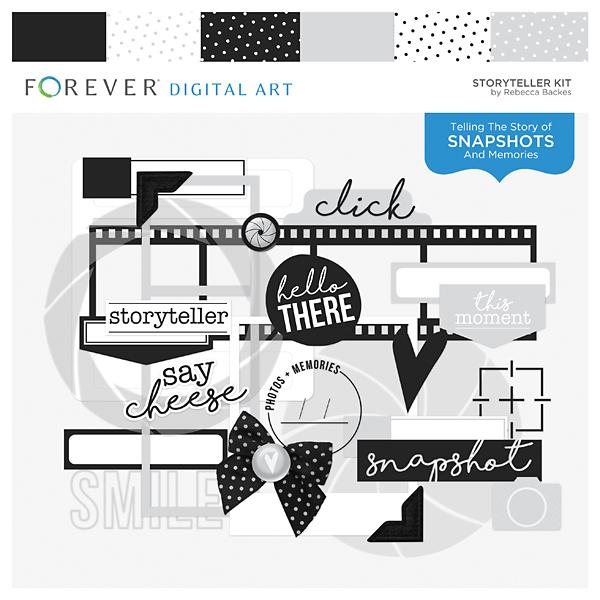 Storyteller Kit Digital Art - Digital Scrapbooking Kits