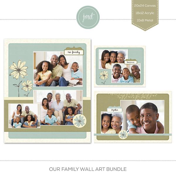 Our Family Wall Art Bundle Digital Art - Digital Scrapbooking Kits