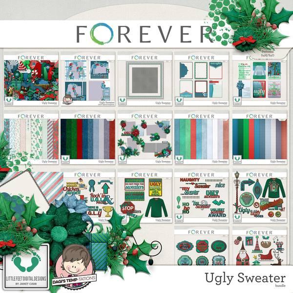 Ugly Sweater Bundle Digital Art - Digital Scrapbooking Kits
