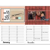 Perpetual Calendar Template 11x8.5