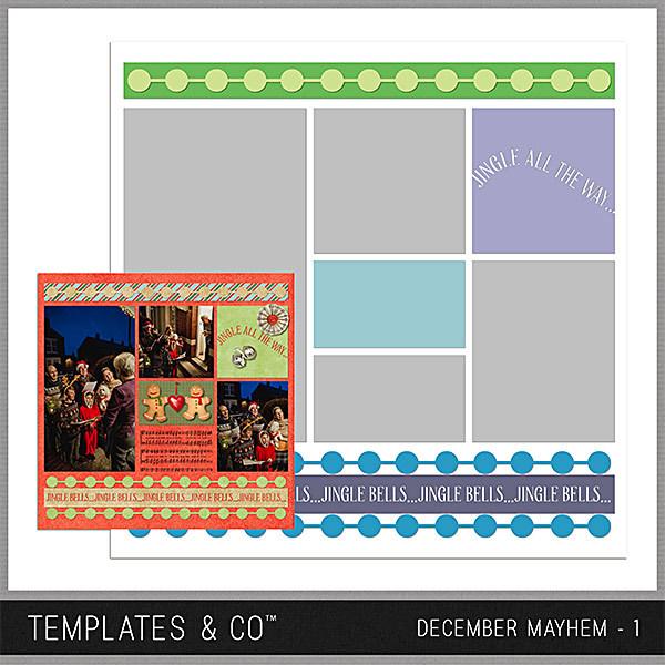 December Mayhem 1 Digital Art - Digital Scrapbooking Kits
