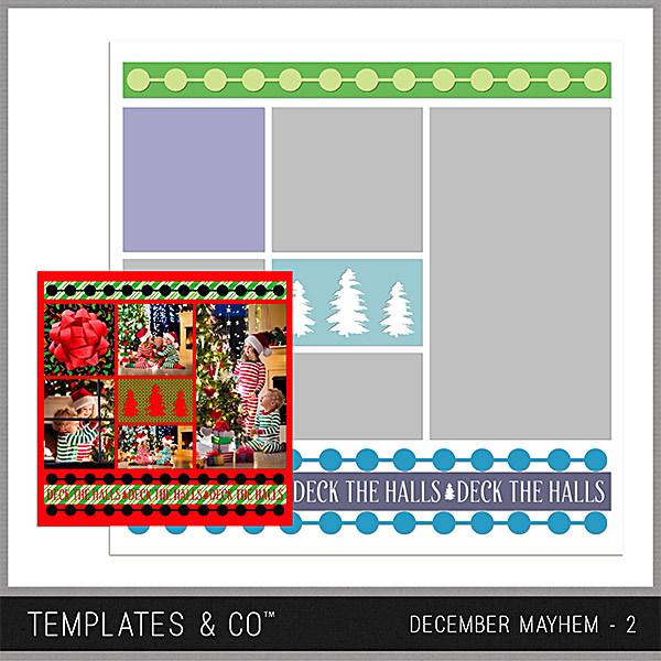 December Mayhem 2 Digital Art - Digital Scrapbooking Kits